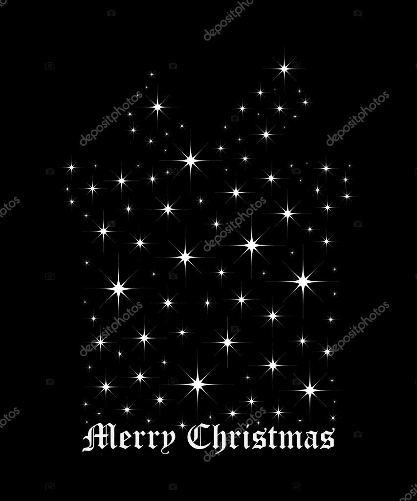 Stella Luminosa Di Natale.Stella Luminosa Di Scatola Di Regalo Di Natale Vettoriali Stock