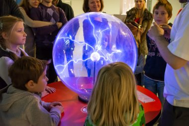 Children in Moscow Planetarium