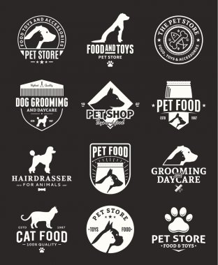 Set of vector pet logo and icons