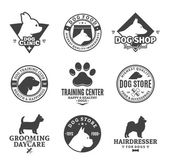 Fotografie Set of vector dog logo and design elements