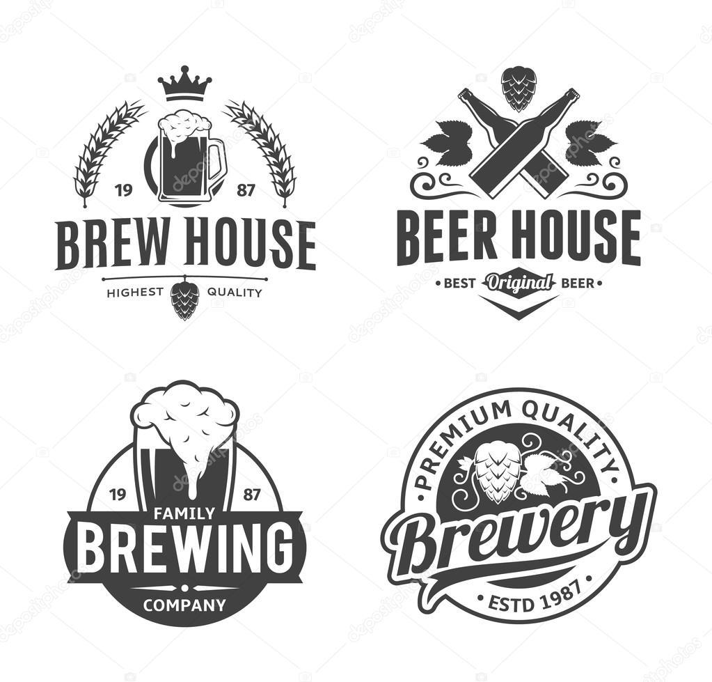 Top Elementos do logotipo, ícones e design vetor preto e branco  NV89