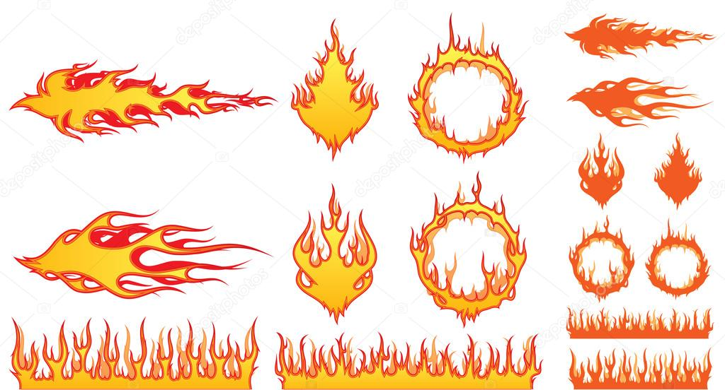 Set of Fire Elements