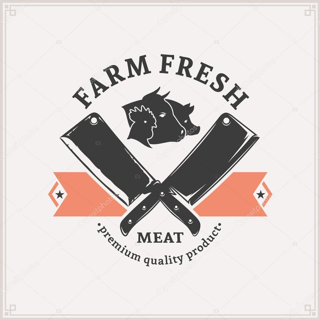 Butchery Logo, Meat Label Template