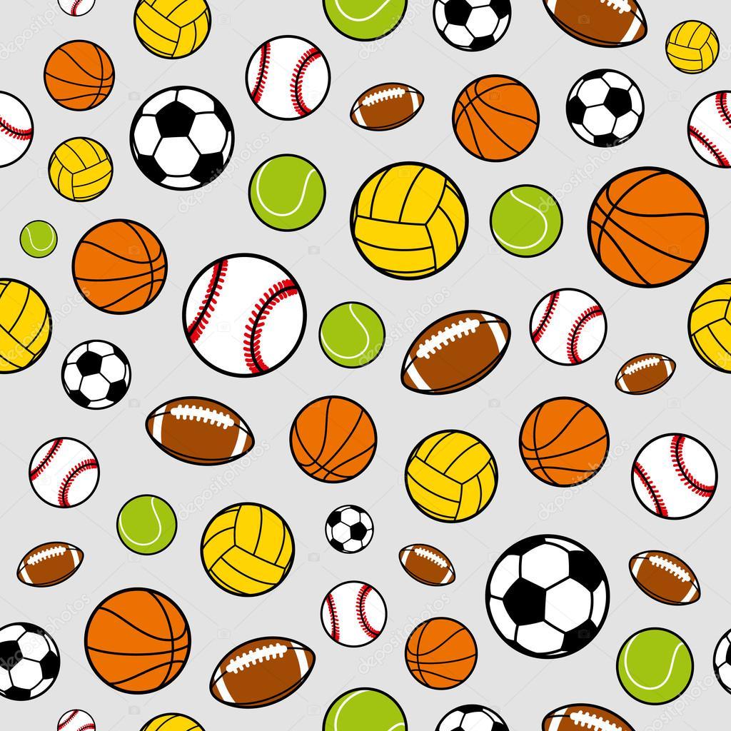 ベクトル スポーツ ボール スポーツ用品 シームレスな背景パターン