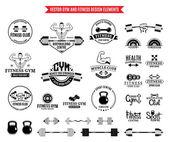 Fotografia Sport e Fitness Logo Templates, palestra logotipi ed elementi di Design