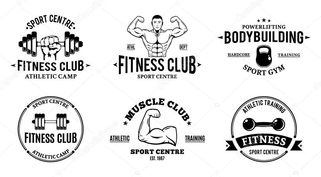 Sport und Fitness-Logo-Vorlagen, Fitness-Studio Logos, athletische ...