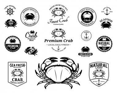 Crab Logos, Labels and Design Elements