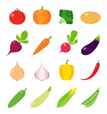 Vector Vegetables Icons