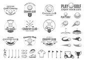 Golf Country Club Logo, Etiketten, Symbole und Designelemente
