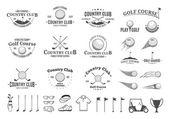 Fotografie Golf Country Club Logo, Etiketten, Symbole und Designelemente