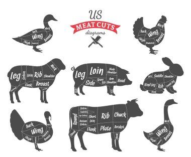 American (US) Meat Cuts Diagrams
