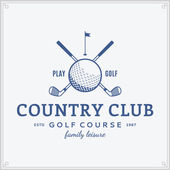 Fotografie Golf Country Club Logo Vorlage