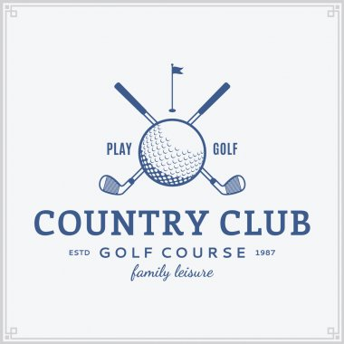 Golf country club logo template