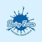 Fotografie Milch-Symbol. Milch, Joghurt oder Creme Fleck. Milch-Logo-Vorlage