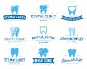 Fotografia Clinica odontoiatrica Logo, icone ed elementi di Design