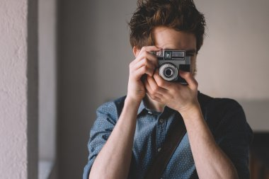 Photo shooting with a vintage camera