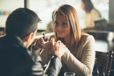 Romantic coffee break