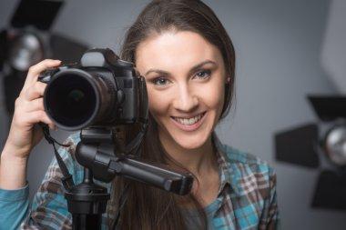 Young photographer portrait
