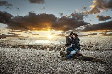 Couple having a romantic date