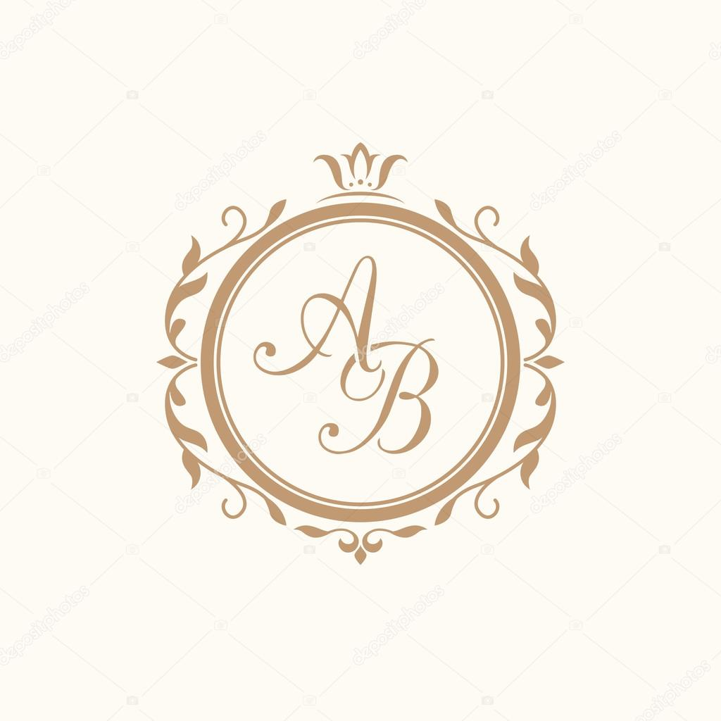 Vintage monogram template — Stock Vector © maria_kolyadina #104944832