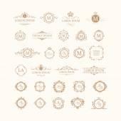 Fotografie Satz von eleganten floralen Monogramme und Grenzen