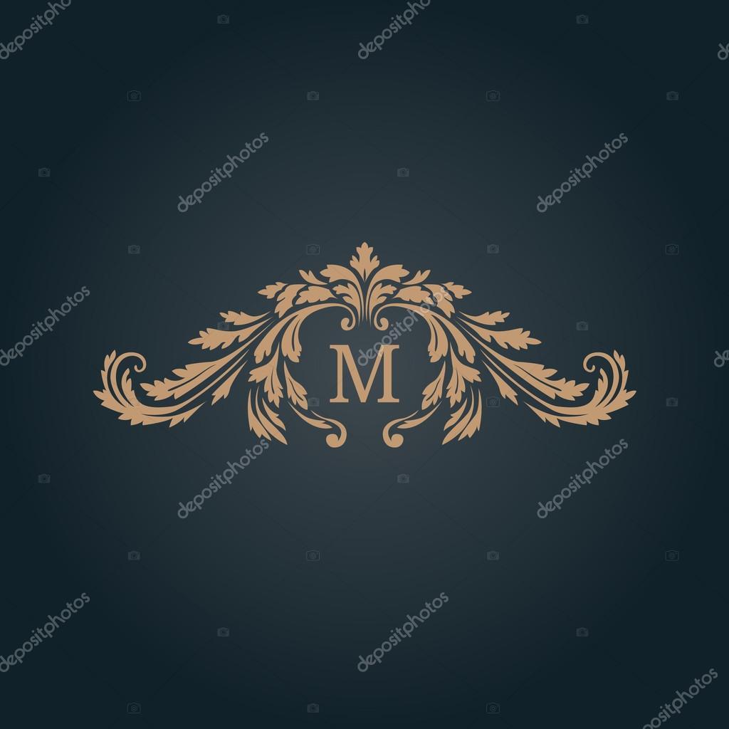 Jahrgang Monogramm-Vorlage — Stockvektor © maria_kolyadina #113150940