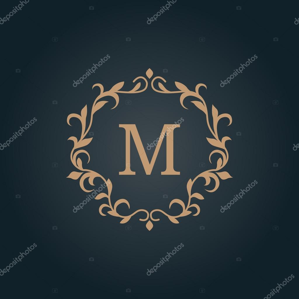 Jahrgang Monogramm-Vorlage — Stockvektor © maria_kolyadina #118510072