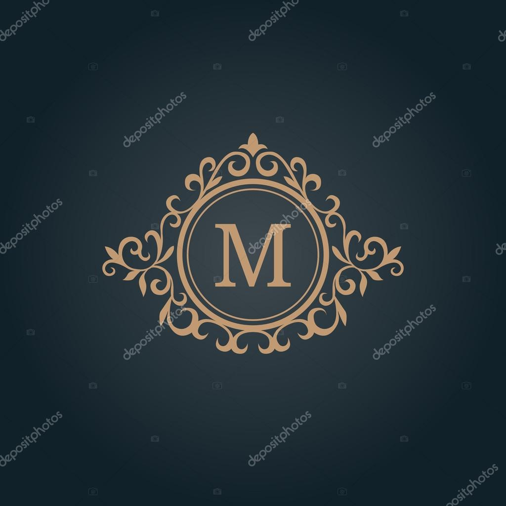 Jahrgang Monogramm-Vorlage — Stockvektor © maria_kolyadina #119869204