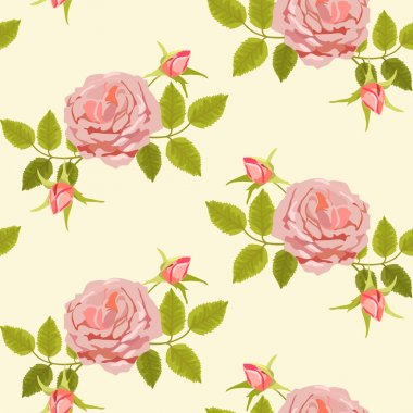 Pattern with big roses