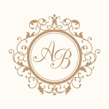 Vintage wedding monogram