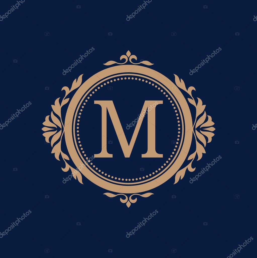 Jahrgang Monogramm-Vorlage — Stockvektor © maria_kolyadina #91385264