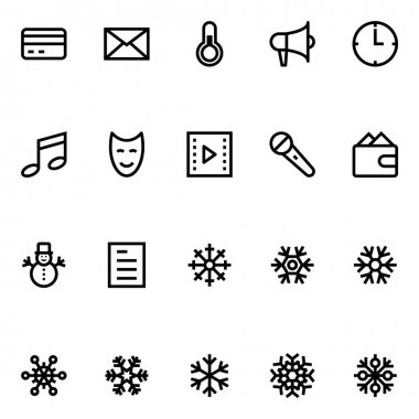 Outline icons for christmas. icon