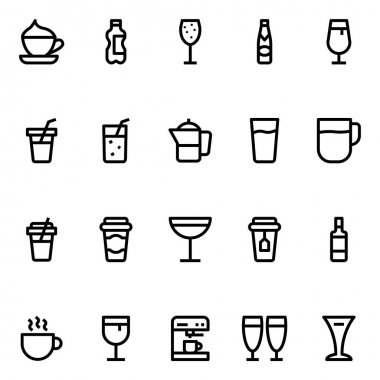 Outline icons for drink. icon