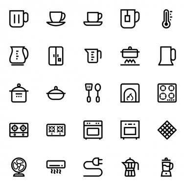 Outline icons for kitchen. icon