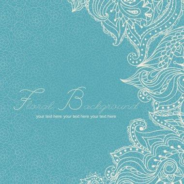 Lace paisley seamless pattern