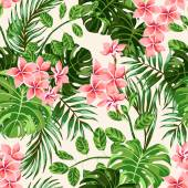 Tropické listy a květy