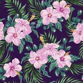 Trópusi levelek és virágok