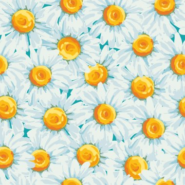 Background with daisies flowers.