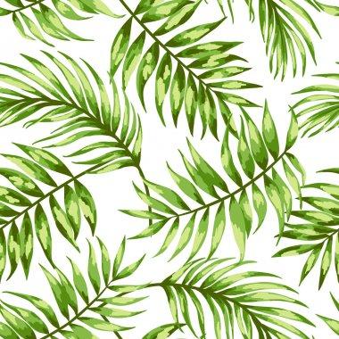 """Картина, постер, плакат, фотообои """"шаблон с тропическими листьями """", артикул 56814551"""