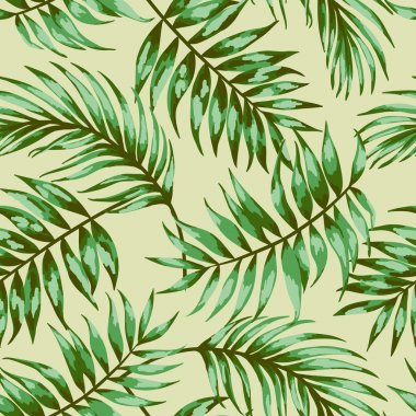 Pattern with tropical leaves