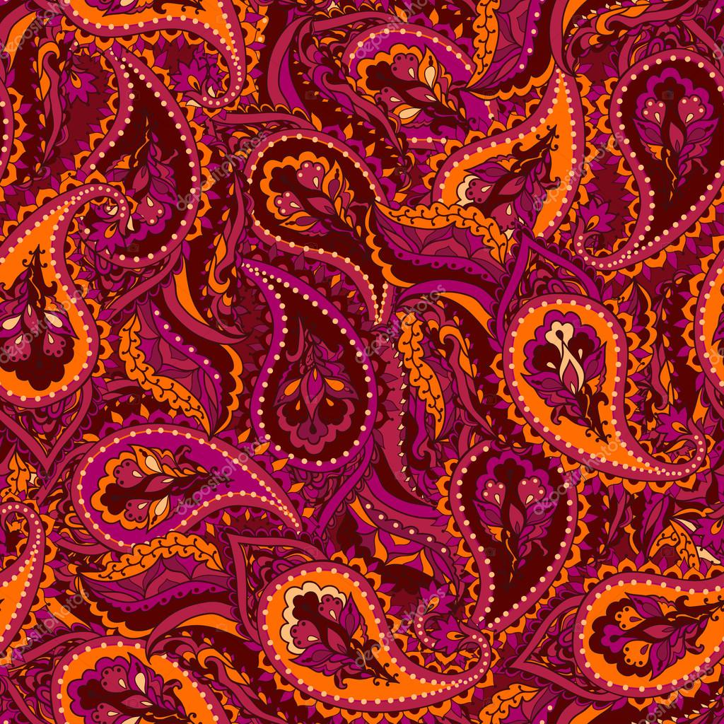 Seamless paisley Indian pattern. — Stock Vector © Lisla