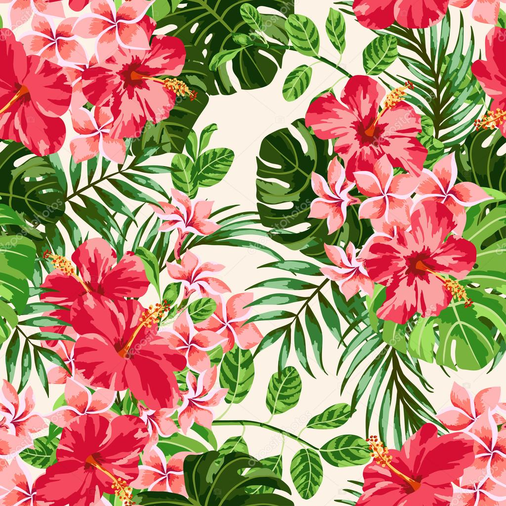 Tropical Leaves And Flowers Stock Vector C Lisla 56814761 Alibaba.com offers 1,211 tropical flower products. https depositphotos com 56814761 stock illustration tropical leaves and flowers html