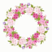 Fényképek virágos kerek keret