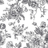 Fotografia modello con mazzo di fiori