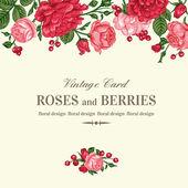 Meghívó rózsaszín és piros rózsák