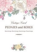 Fotografia Foral carta con fiori da giardino