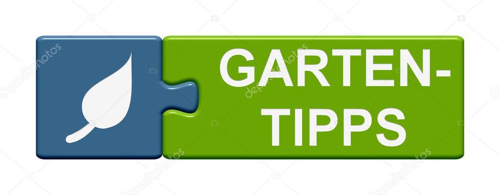 Consejos de jardinería de botón de Puzzle alemán — Foto de stock ...