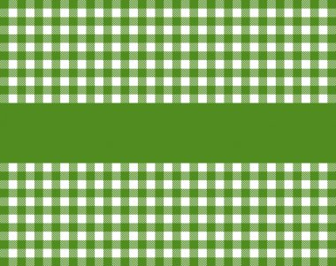 Tablecloth with copy space green