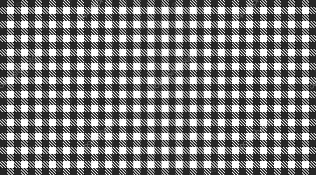 Traditional Checkered Tablecloth Pattern Black And White U2014 Photo By Keport