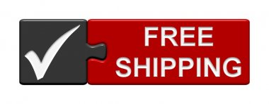 Puzzle Buttton: Free Shipping